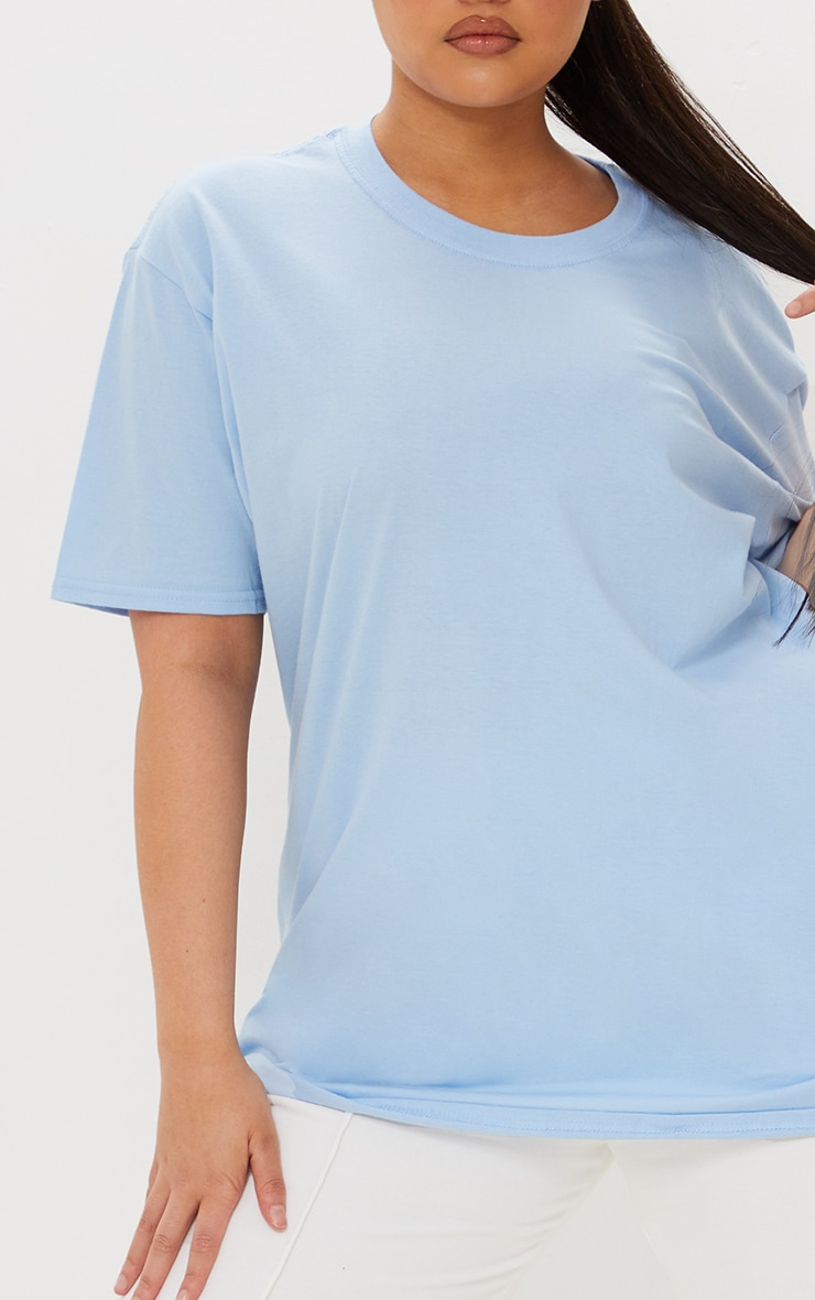 Plus Ultimate Light Blue Oversized T Shirt 4