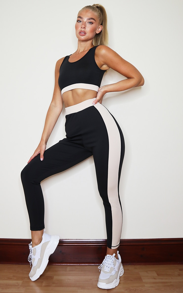 PRETTYLITTLETHING Black Sport Backless Cropped Sports Top 3