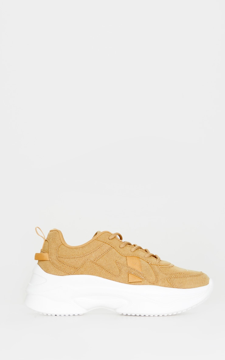 Sand Faux Suede Chunky Bubble Sole Sneakers 3