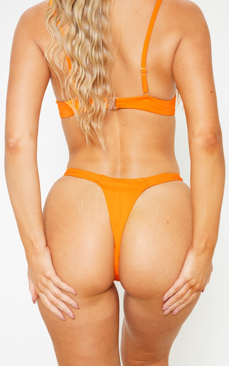 Orange Mix & Match Thong Bikini Bottom 1