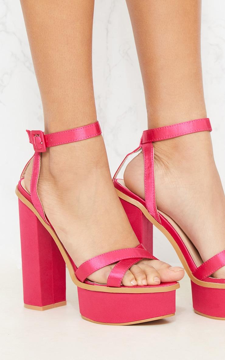 Fuchsia High Platform Sandal 5