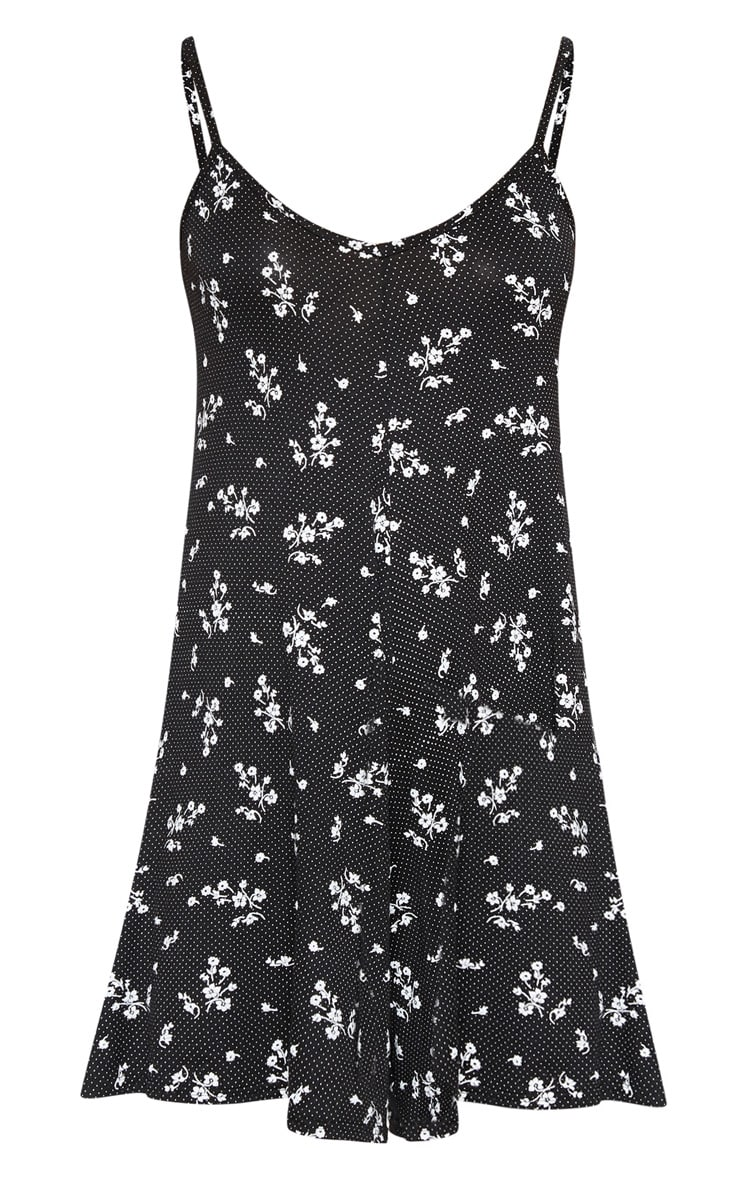 Black Strappy Printed Romper 2