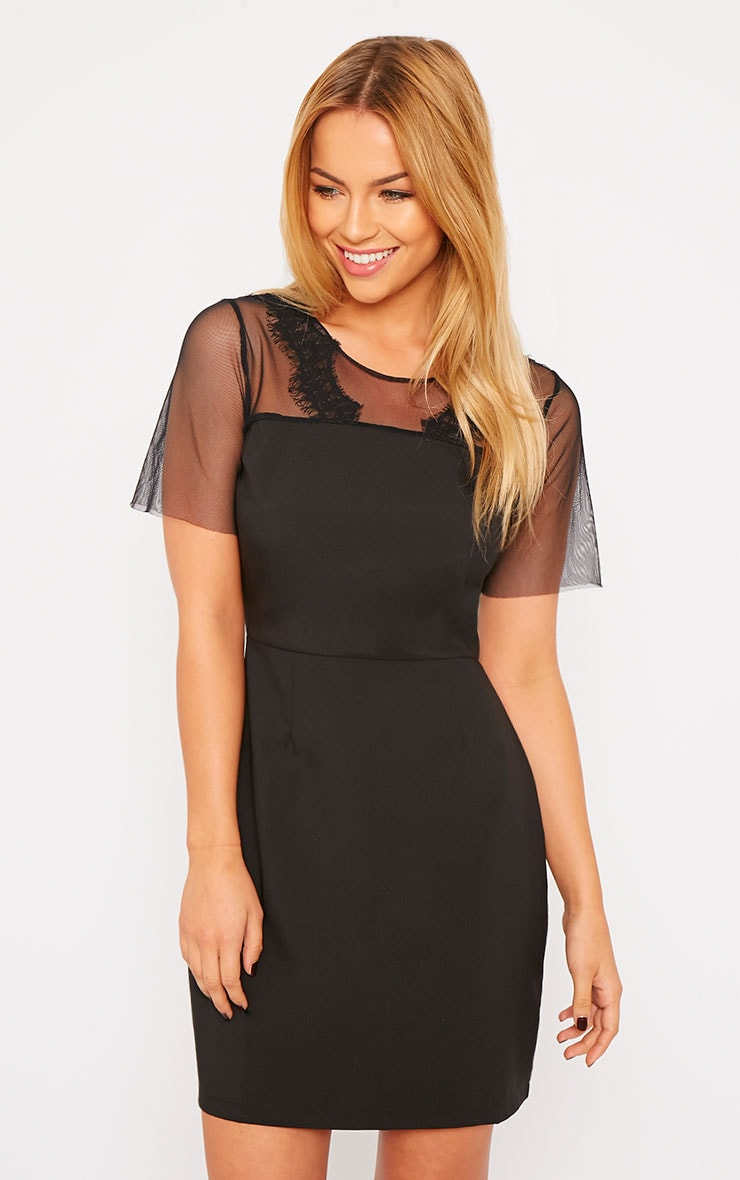 Lynae Black Lace Panel Dress 8