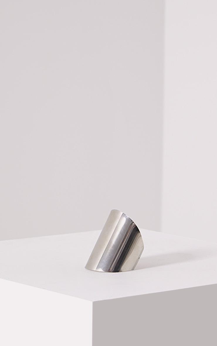 Jolia Silver Curved Cuff 1