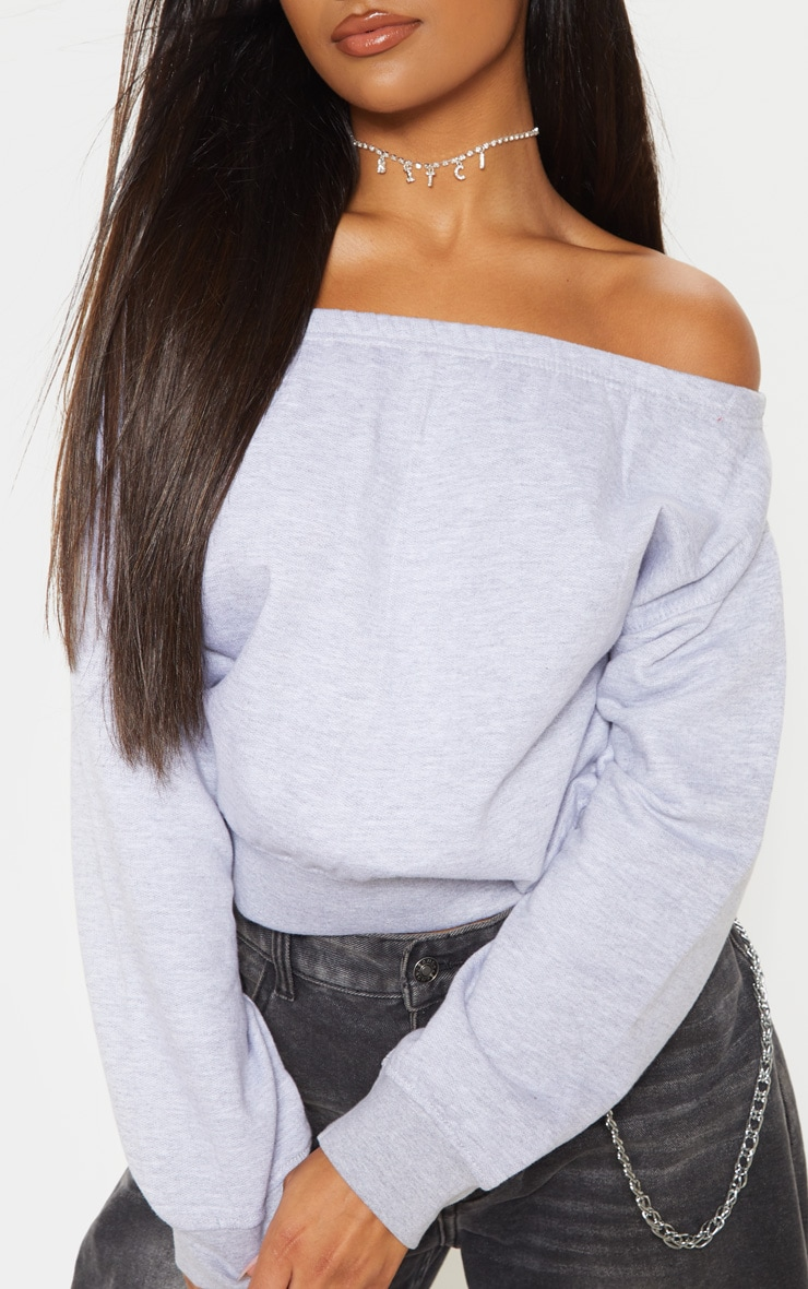 Grey Bardot Oversized Sweater 5