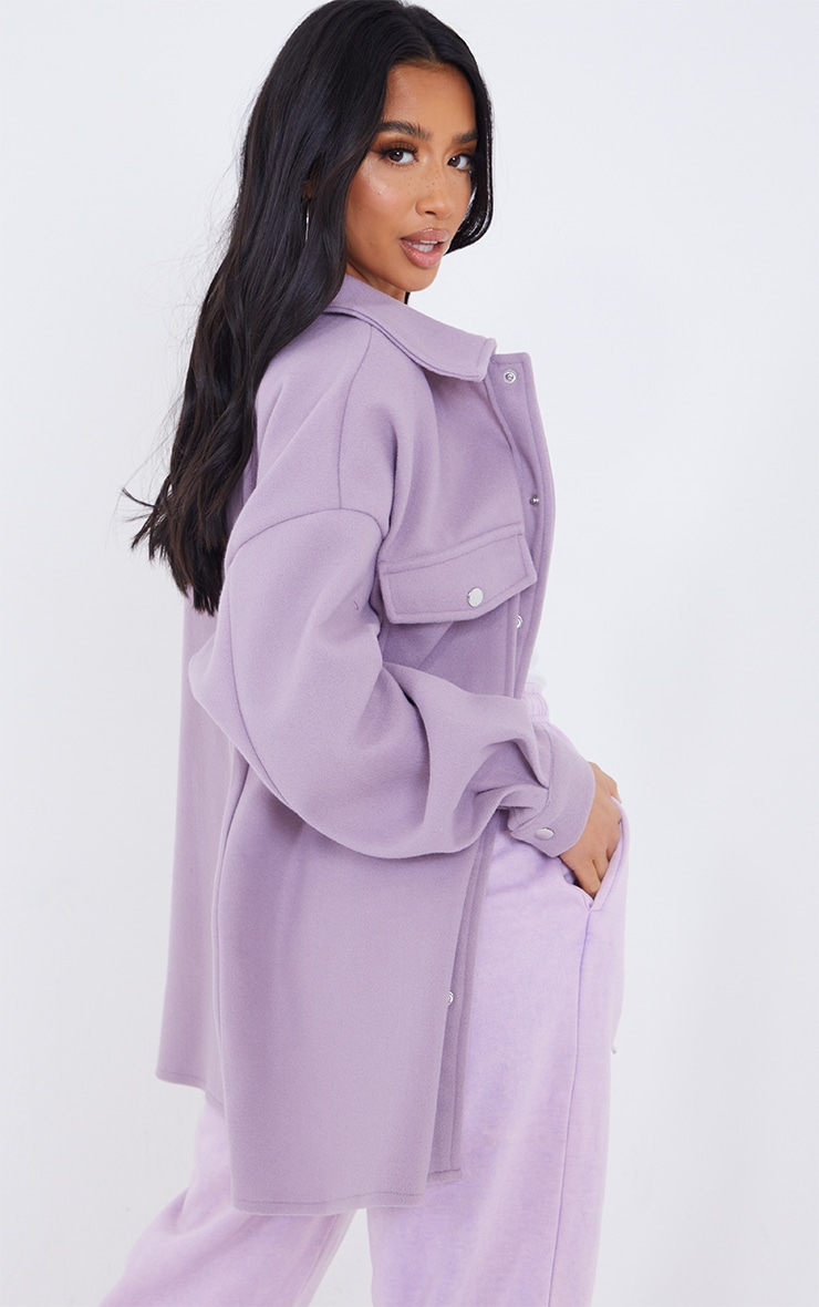 Petite Lilac Oversized Shacket  2