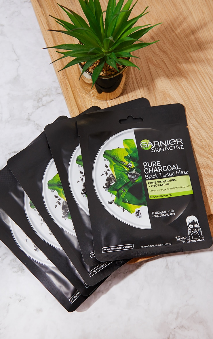 Garnier Charcoal and Algae Purifying and Hydrating Sheet Mask 5 Pack 3