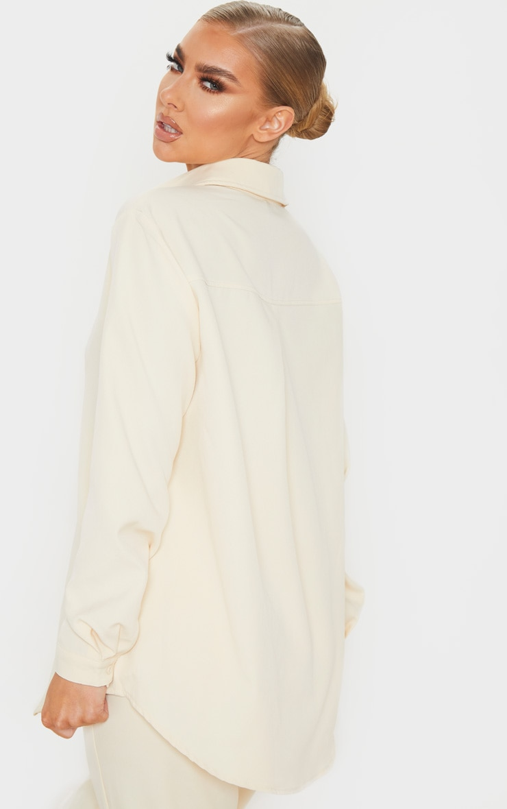 Cream Oversized Shirt 2