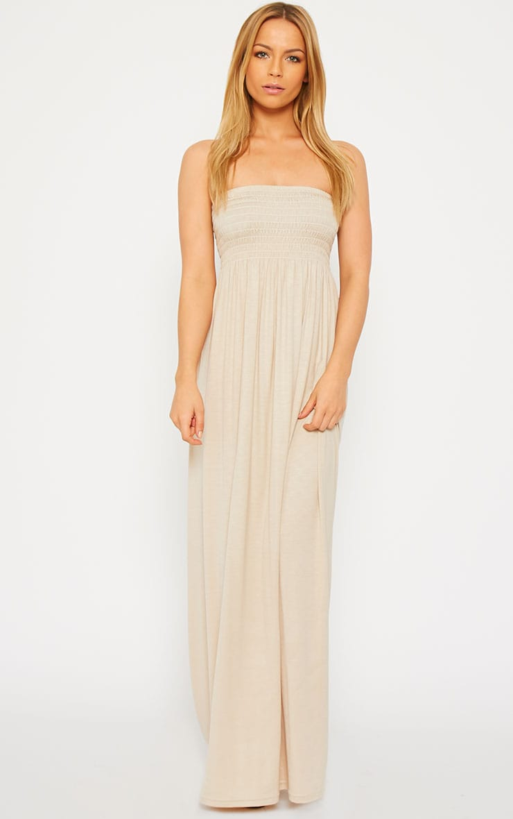 Tamara Stone Elasticated Bandeau Jersey Maxi Dress 3