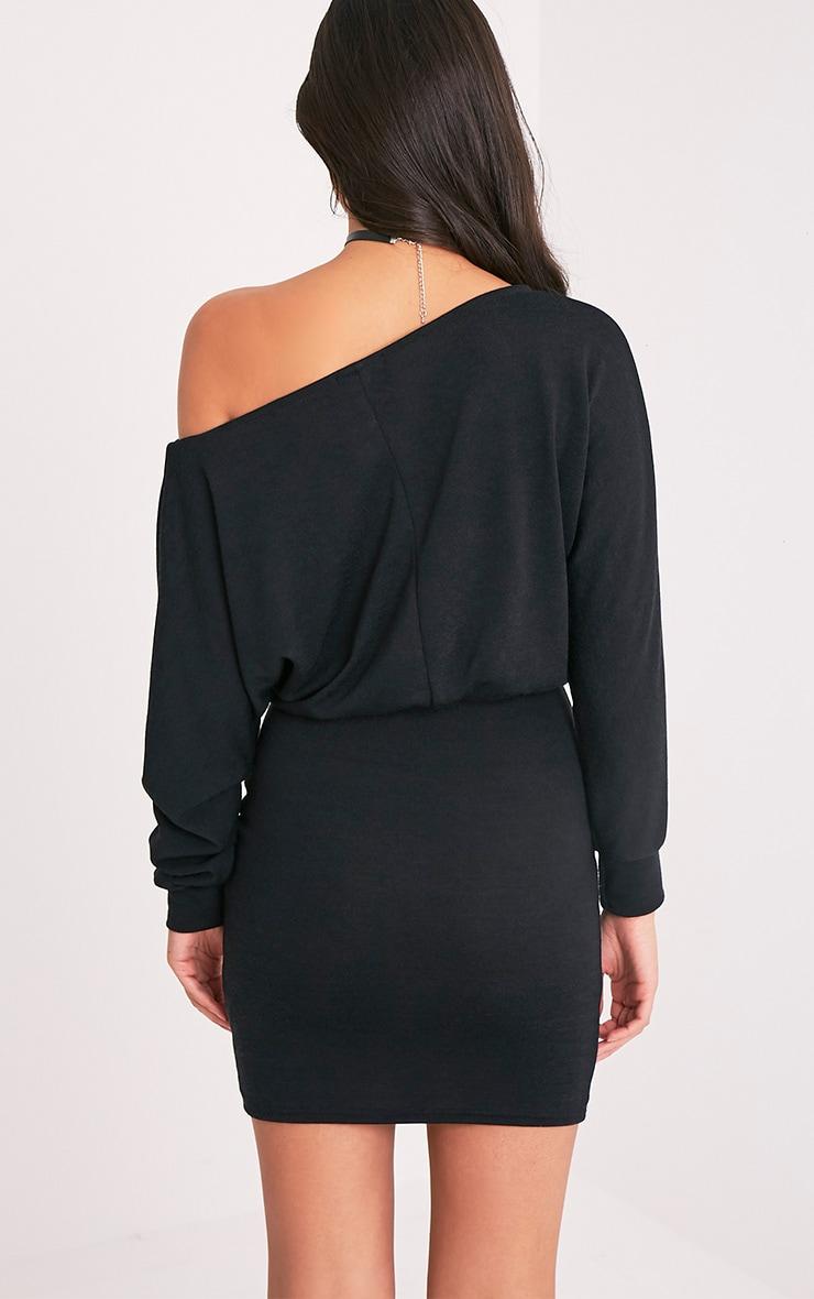 Lerie robe en tricot ajustée à la taille noire 3