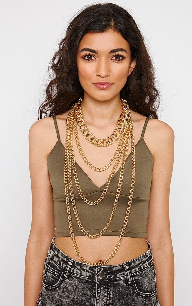 Adrina Gold Layered Chain Necklace 1