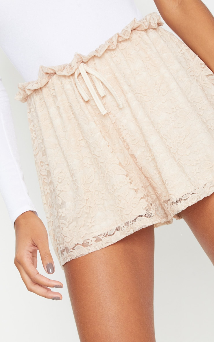 Stone Lace Paperbag Tie Waist Short 6