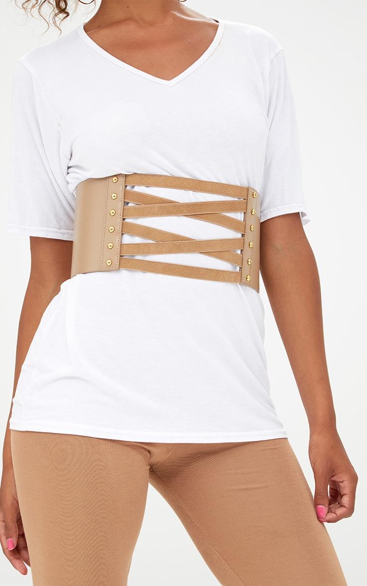 Brown Bandage Corset Belt 2
