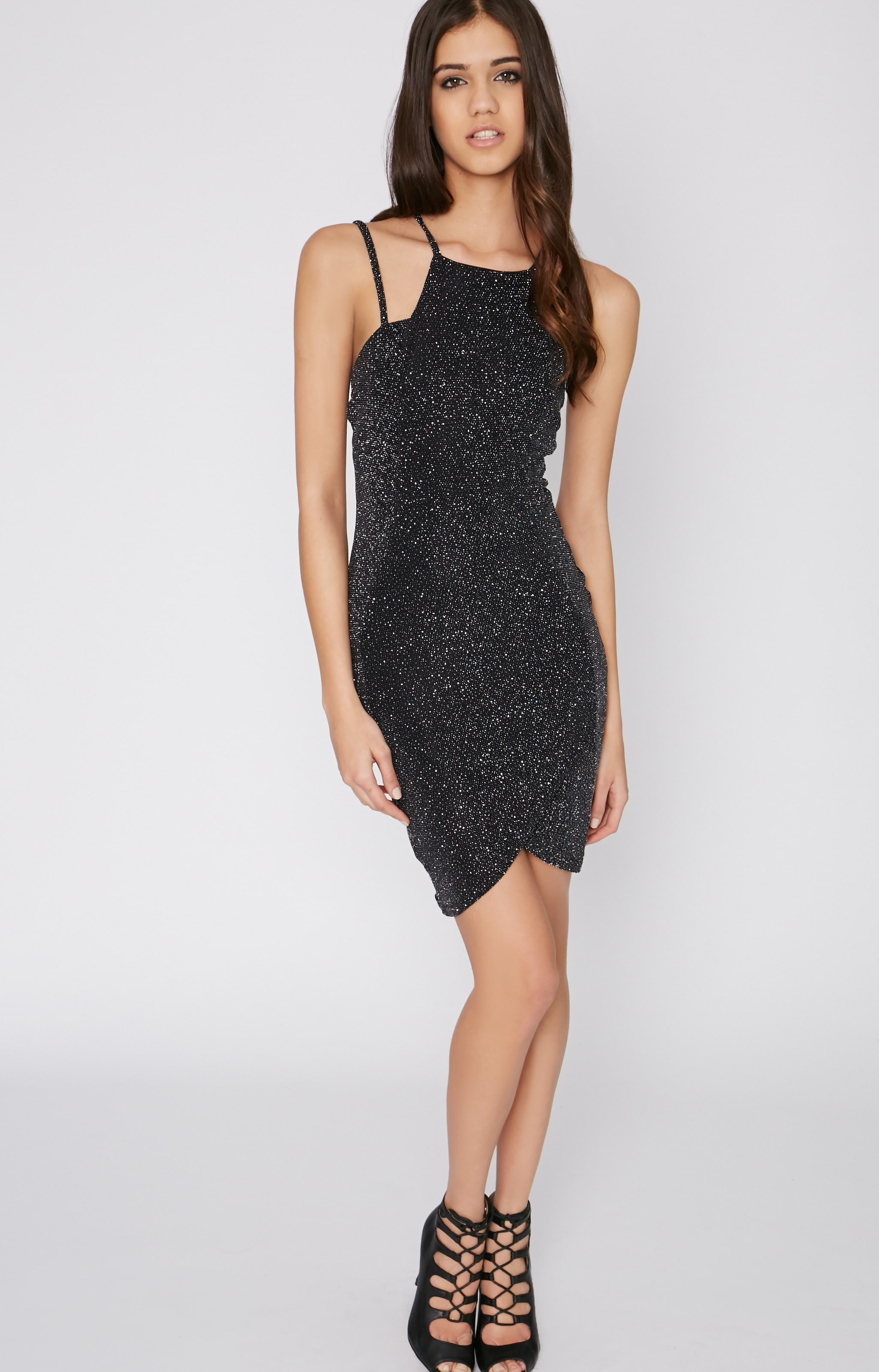 Moriah Black Glitter Dress 3