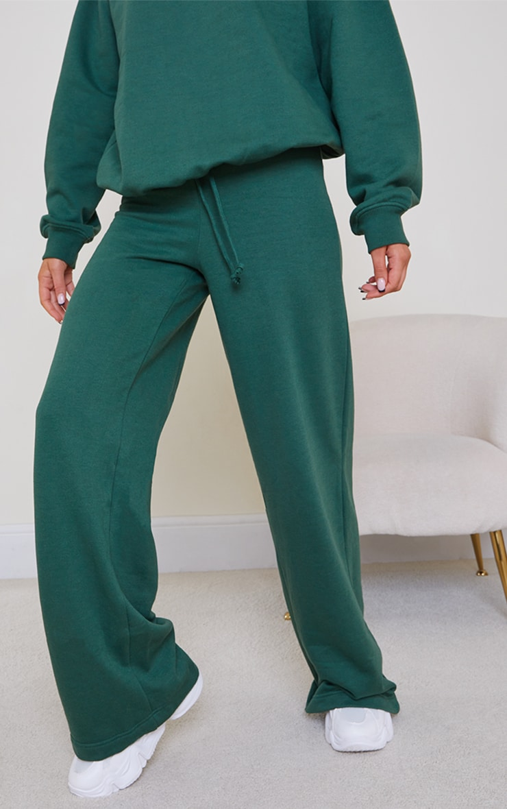 Forest Green Wide Leg Joggers 2
