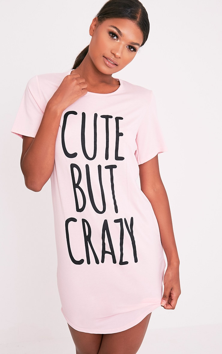 a67562e1dc Cute But Crazy Baby Pink Oversized Nightshirt - Nightwear   Onesies ...