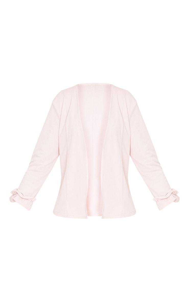 Esme Blush Ruffle Cuff Cropped Blazer 3