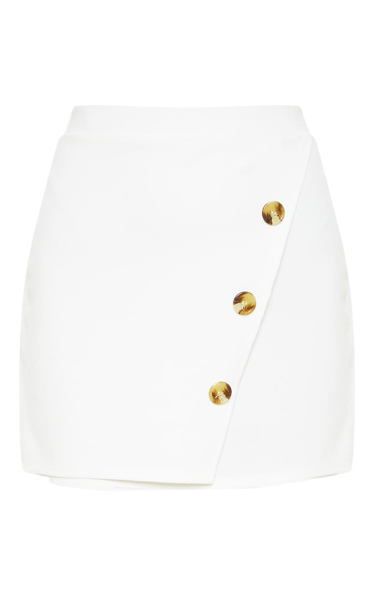 Cream Button Detail Skirt 3