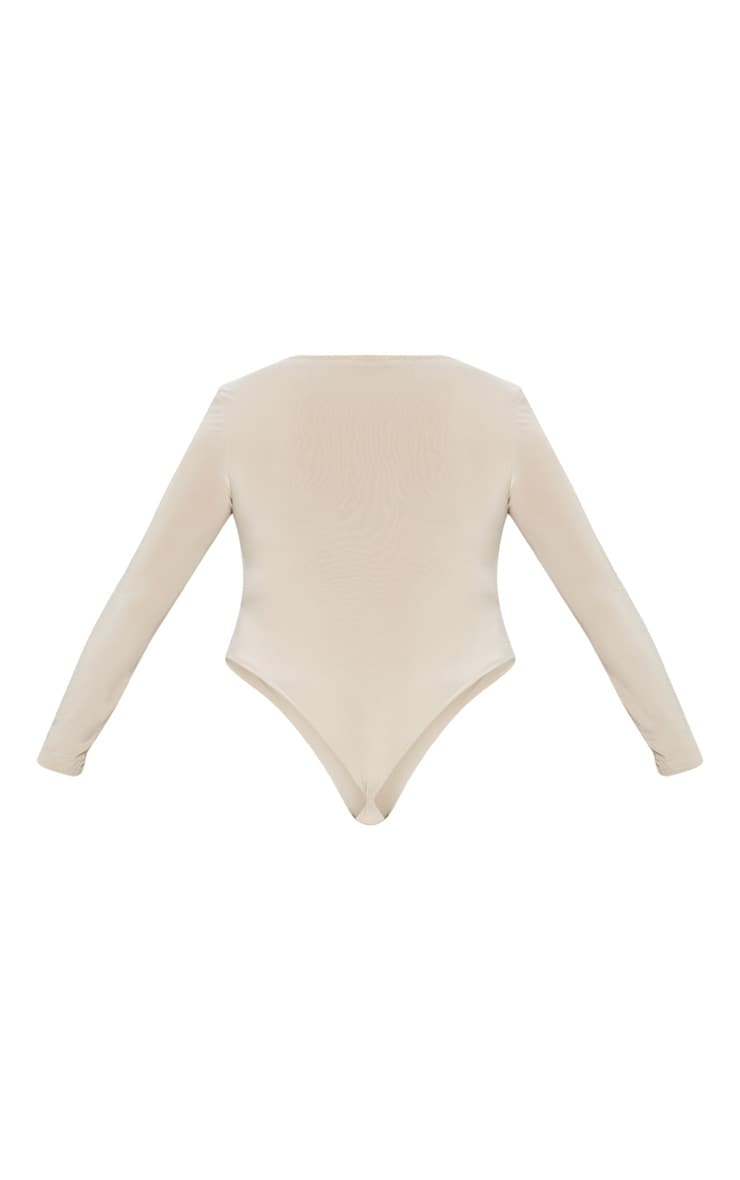 Plus Stone Second Skin Square Neck Thong Bodysuit 3