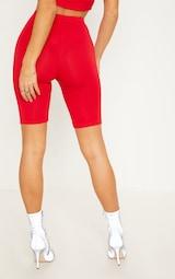 Red Basic Cycle Shorts 4
