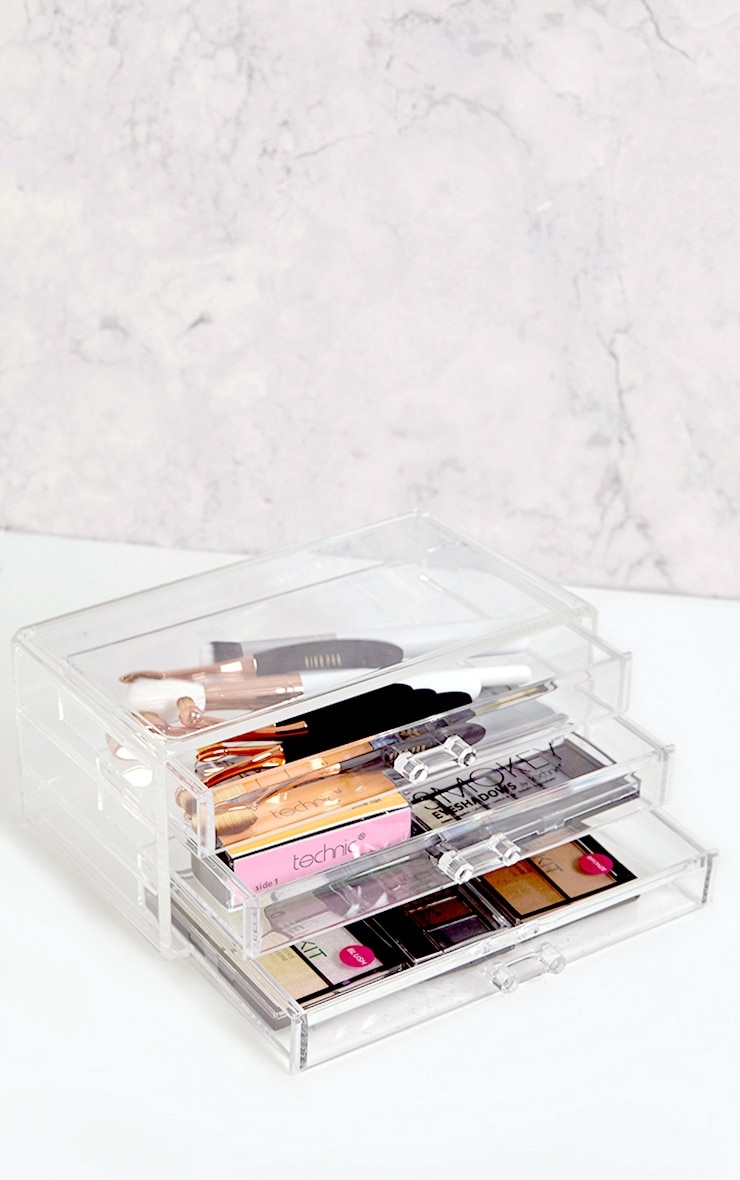 Technic Clear Three Drawer Cosmetics Organiser 1