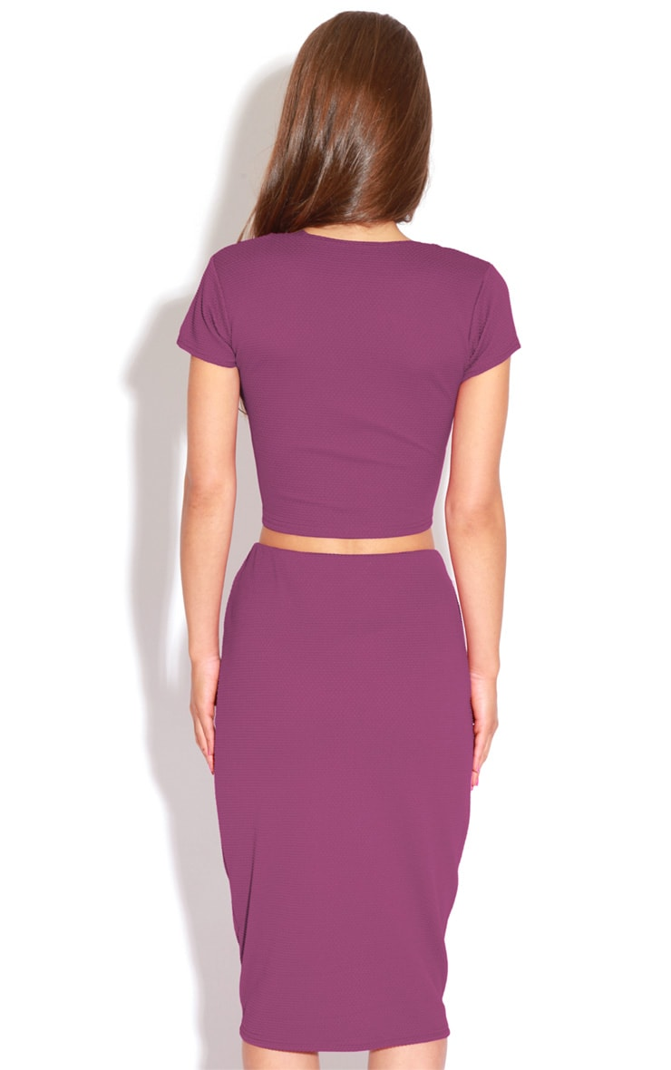 Fallon Purple MIdi Skirt 2