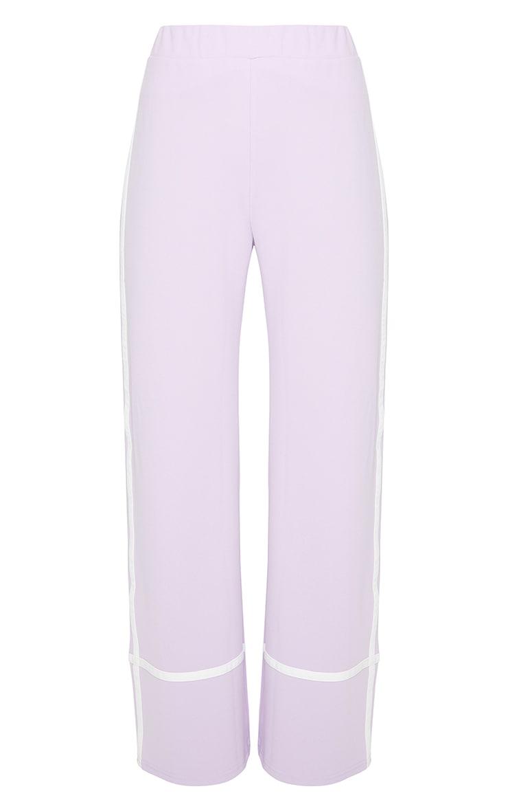 Lilac Stripe Side Detail Wide Leg Pants 5