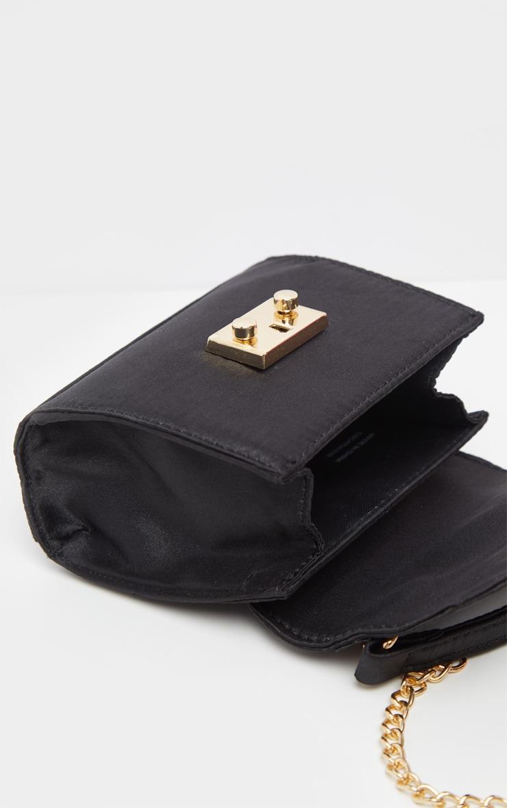 Black Satin Square Mini Bag 4