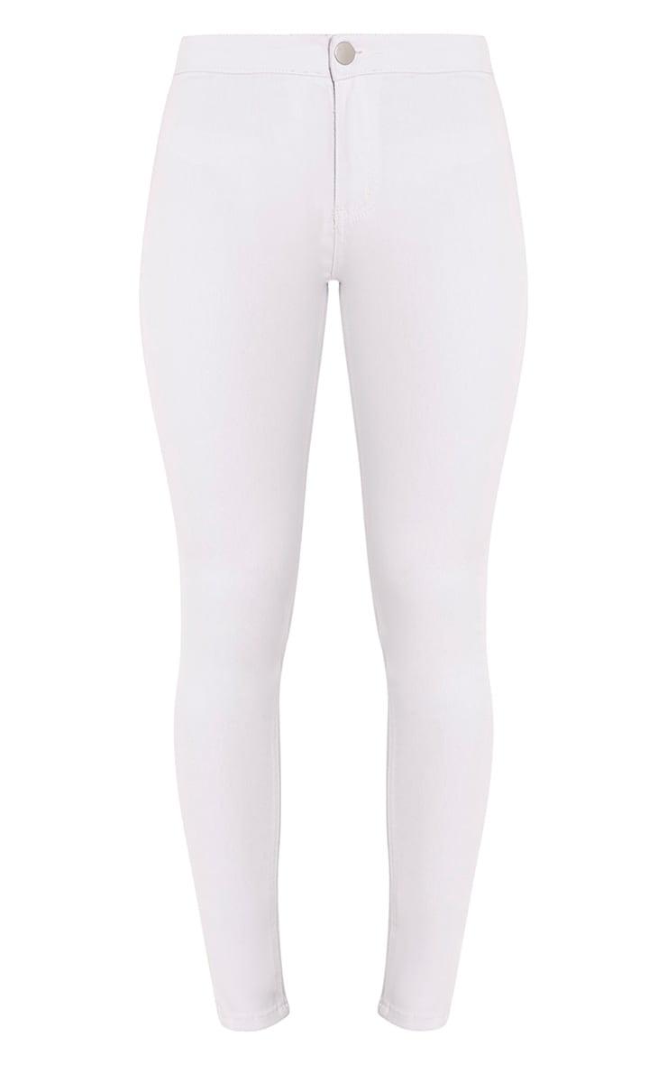Kylie jean skinny taille mi-haute blanc 3