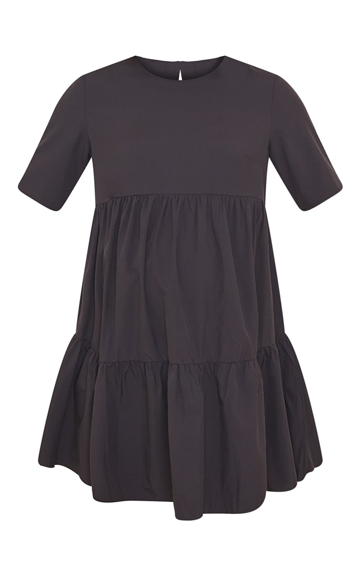 Maternity Black Ruffle Mini Dress 5