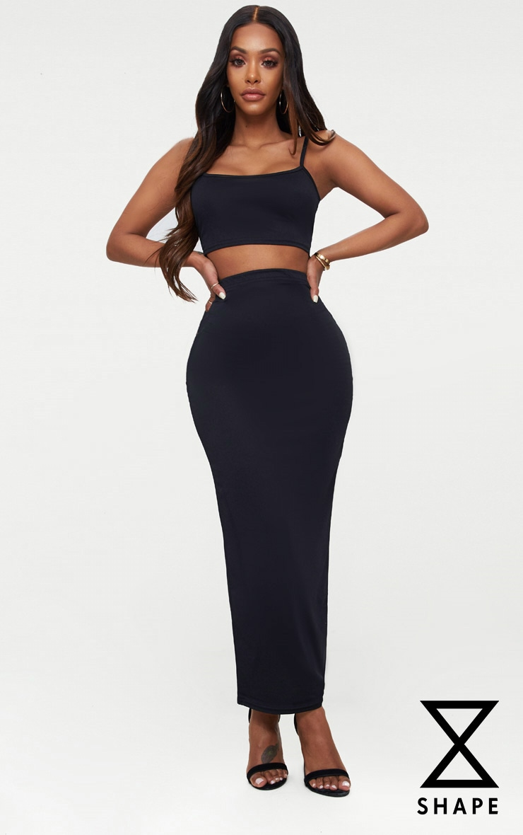 Shape Black Midaxi Skirt