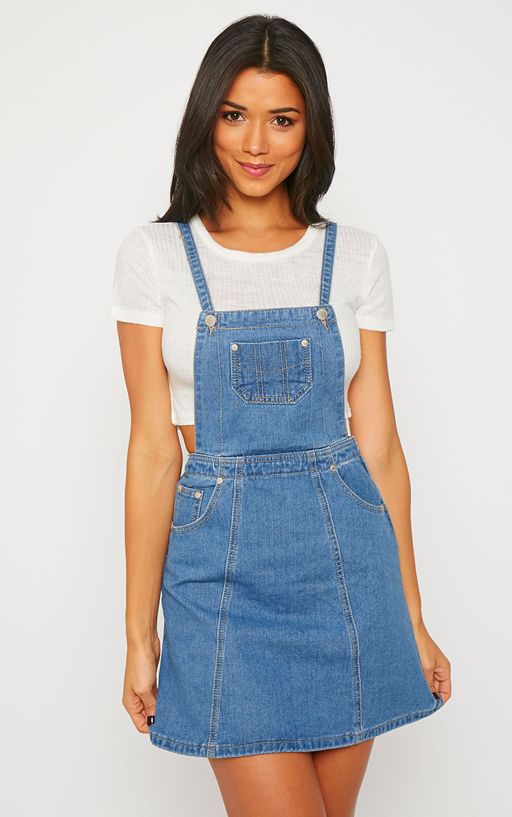 Alexa Denim Pinafore Dress 1