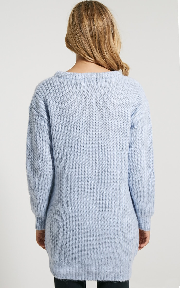 Lilja Chalk Blue Zip Detail Jumper 2