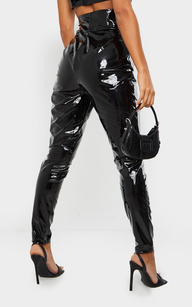 Black Vinyl Skinny Trousers 3