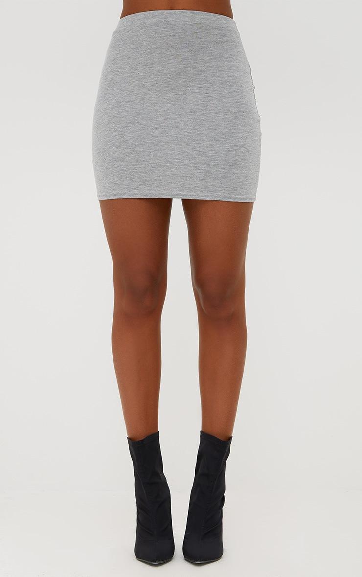 Grey Marl Ultimate Jersey Mini Skirt 2
