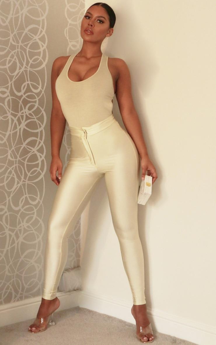 Cream Disco Pants 1