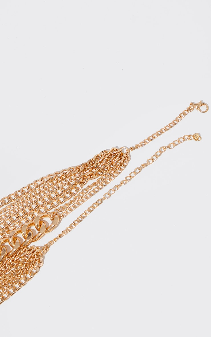 Gold Chunky Chain Layering Necklace 4