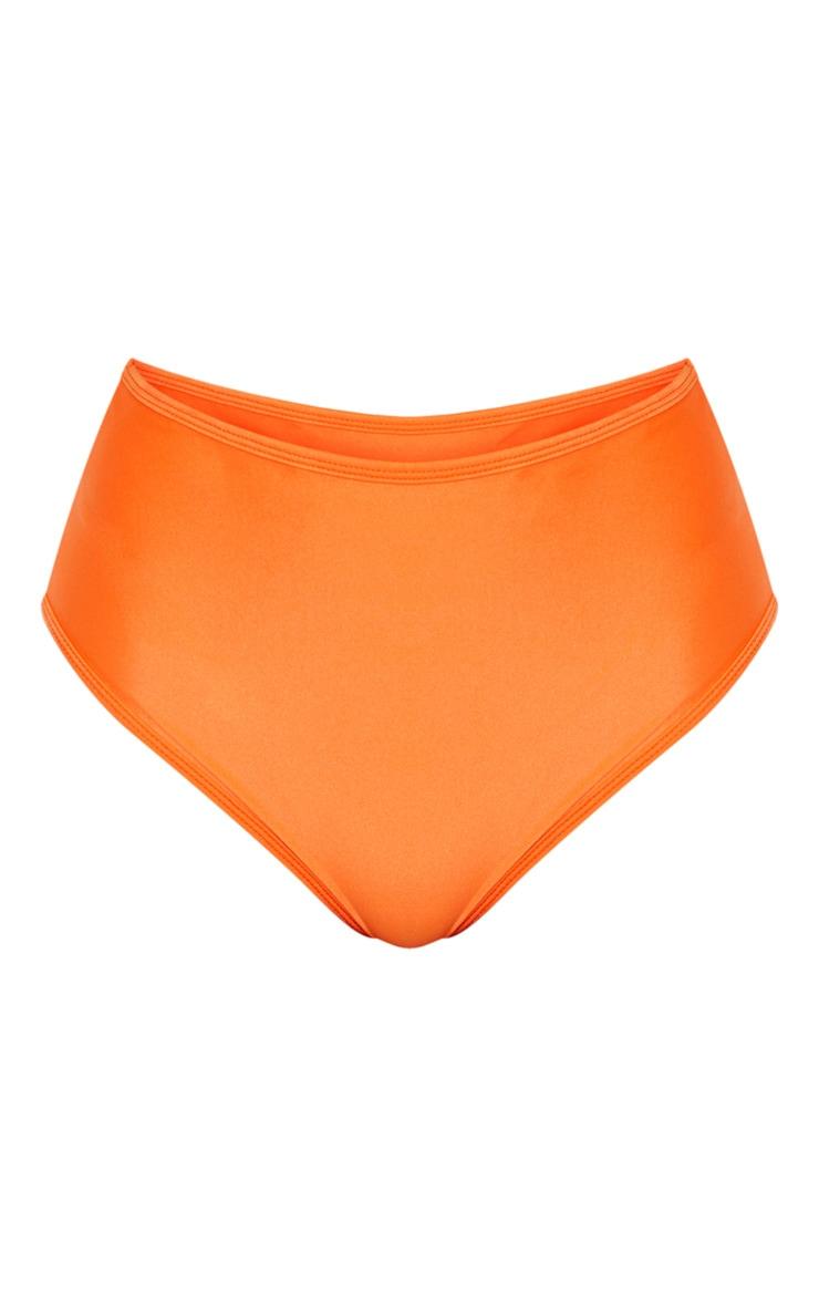 Orange Mix & Match High Waisted Bikini Bottom 7