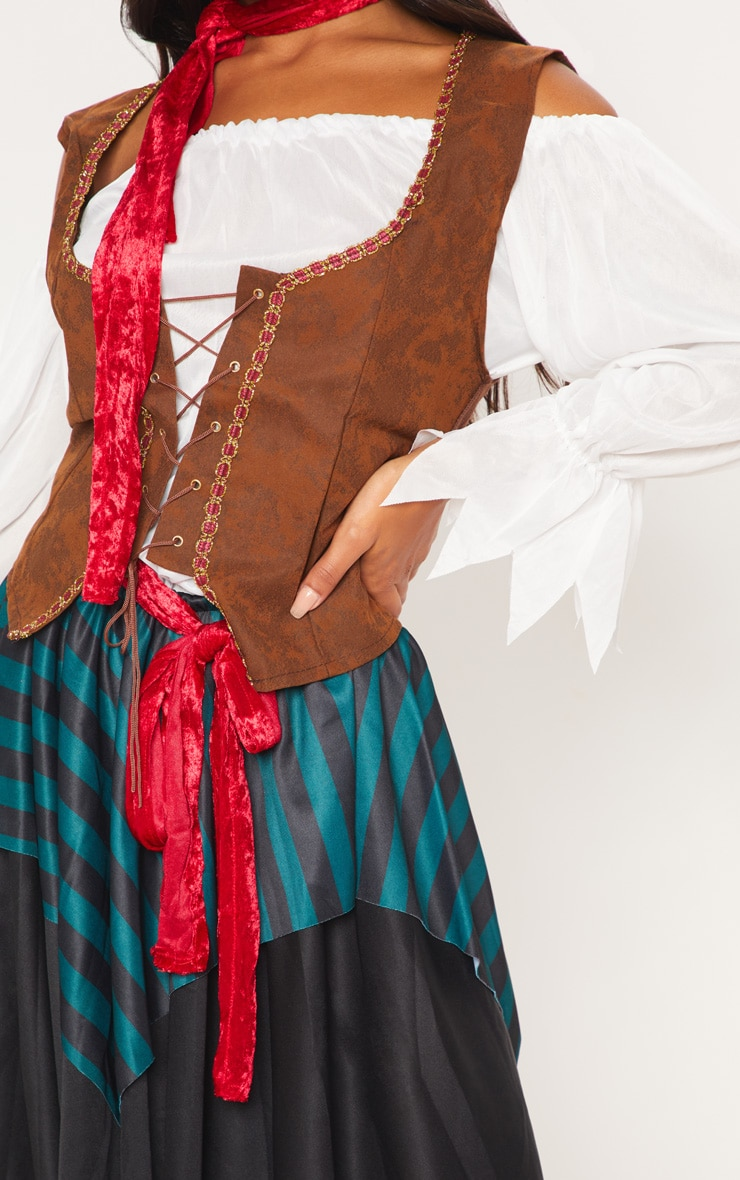 Pirate Lady Halloween Fancy Dress Outfit 5