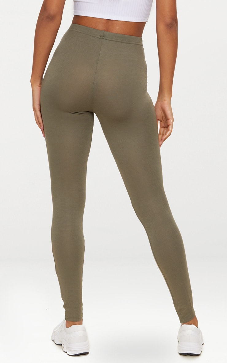 Basic Khaki Leggings 4