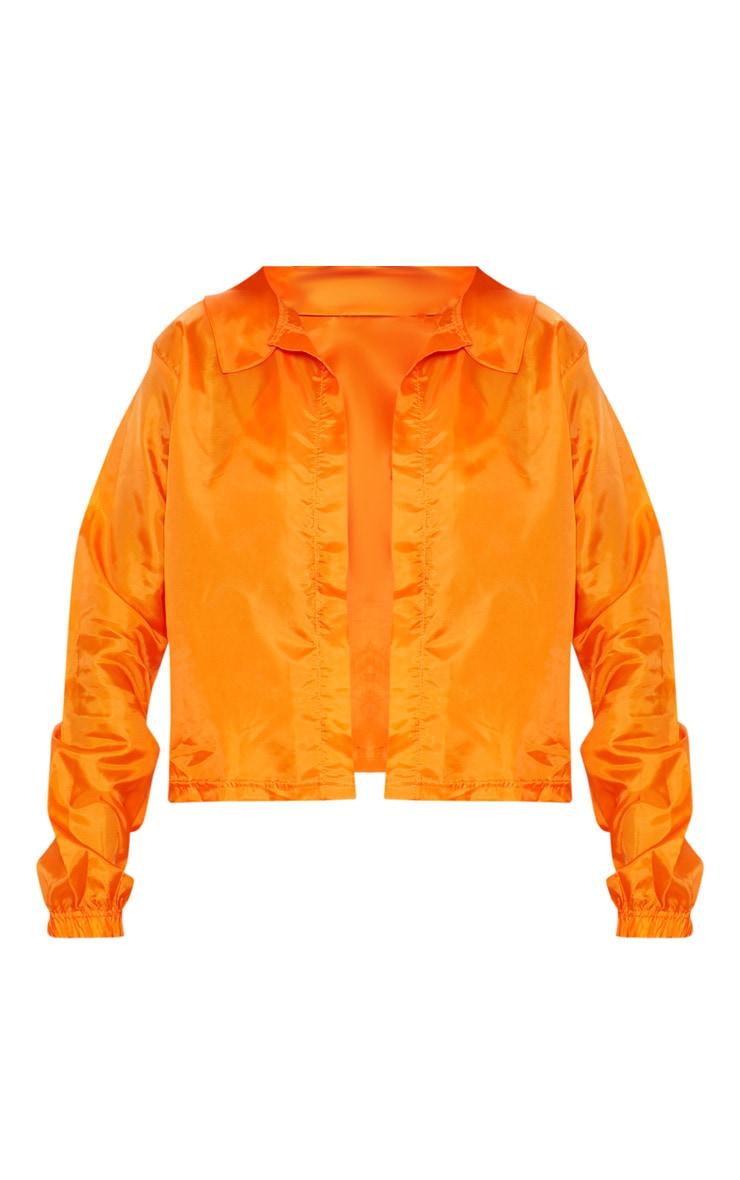 Orange Button Detail Shell Shirt 4