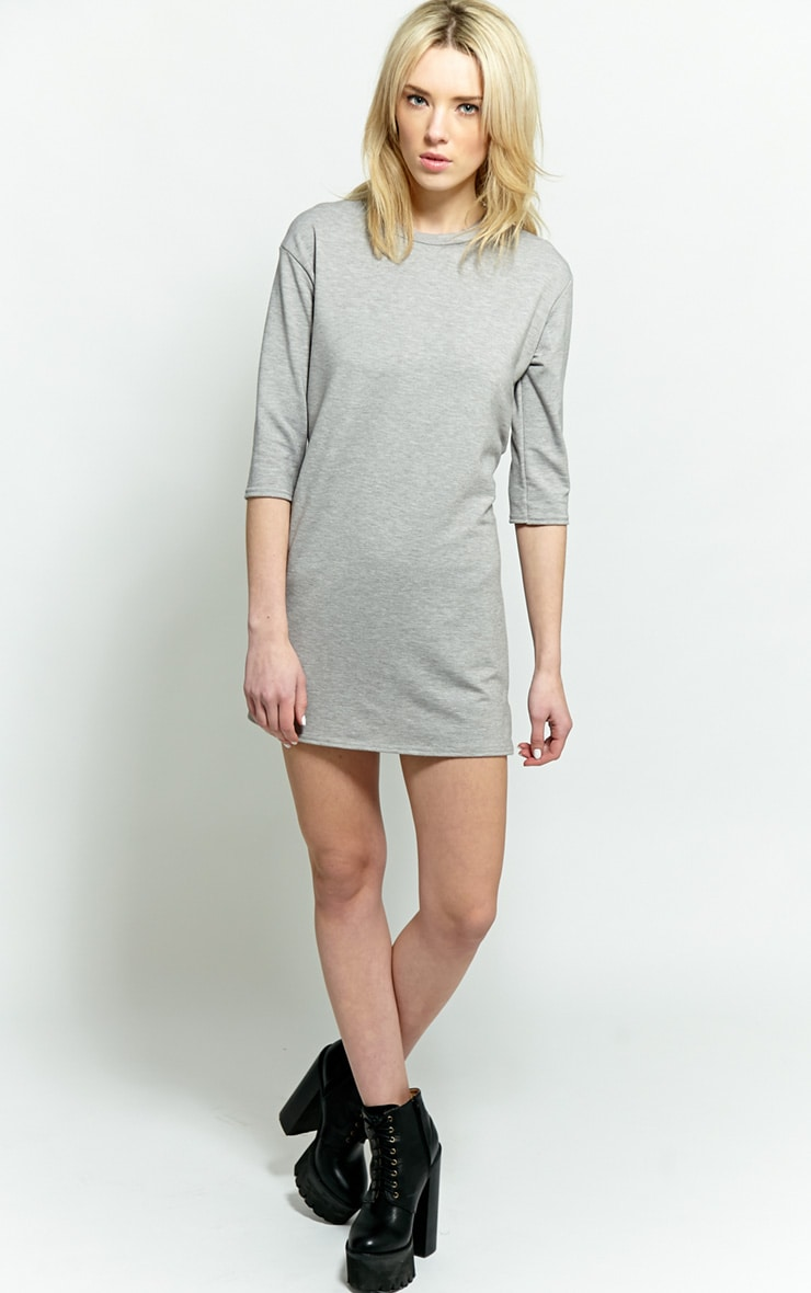 Zoe Grey Jersey Oversized Sweater Dress 4
