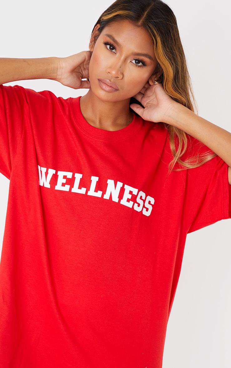 Red Wellness Printed T Shirt 4