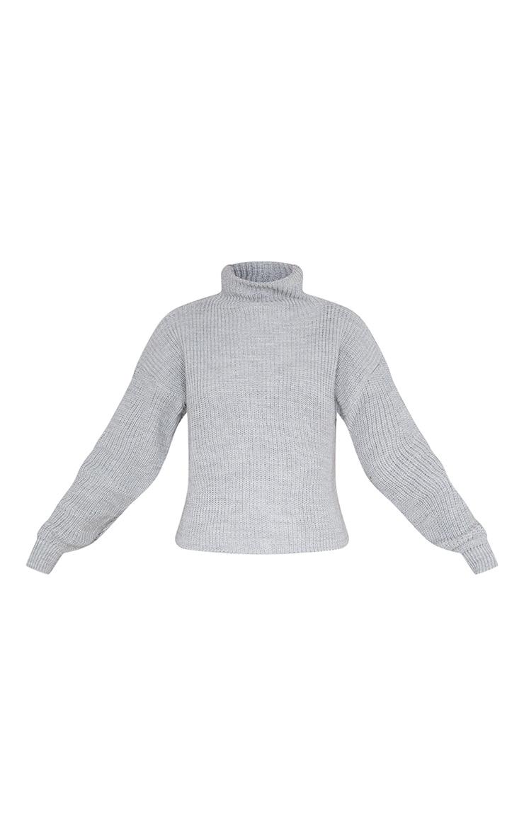 Grey High Neck Sweater 5