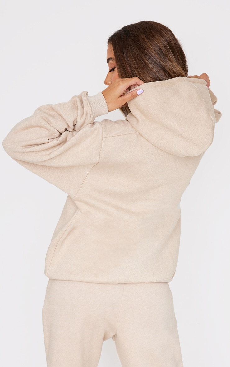 PRETTYLITTLETHING Stone Embroidered Oversized Hoodie 2