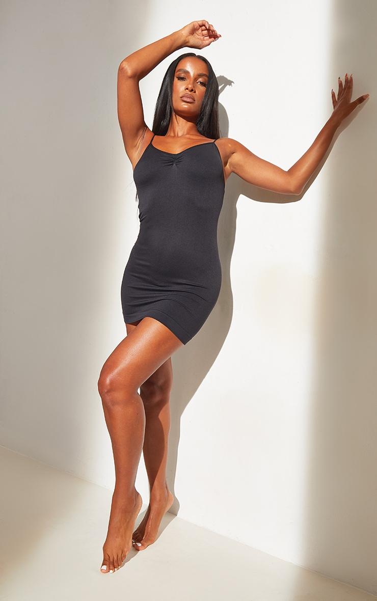 Black Shapewear Control Slip Dress 1