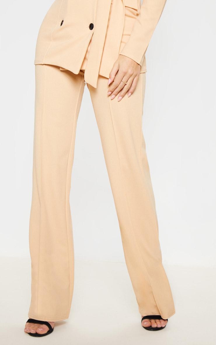 Stone Crepe Straight Leg Pants 2