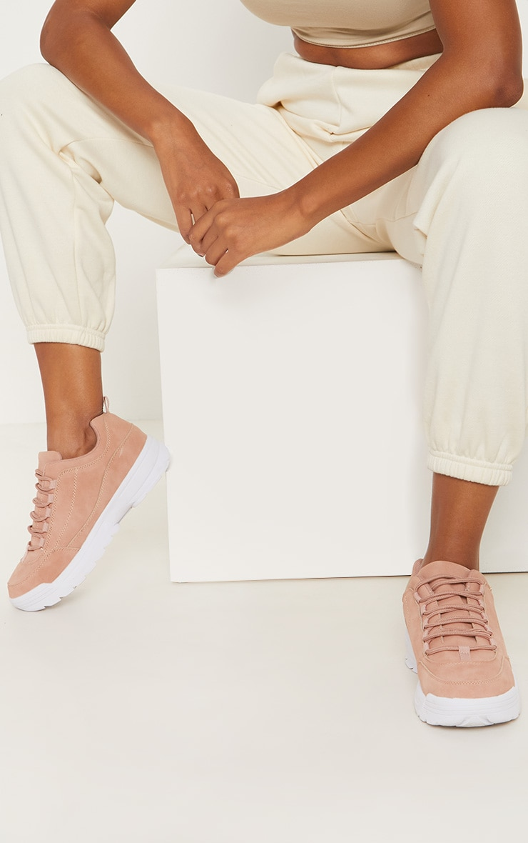 Pink Chunky Cleated Sole Sneakers 2
