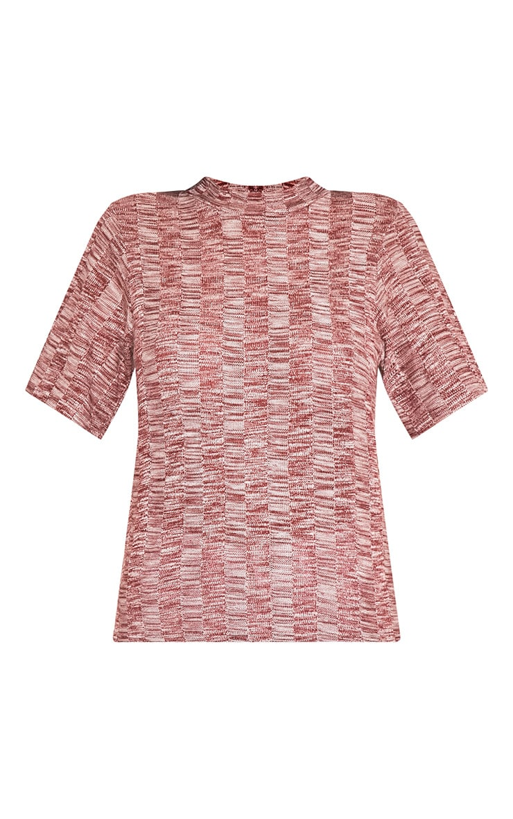 Laylae Red Fine Knit Short Sleeve Top 5