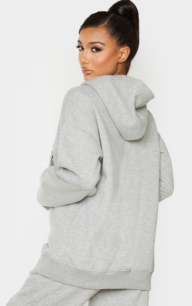 Grey Oversized Pocket Hoodie 3